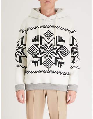 Maison Margiela Embroidered cotton-fleece hoody