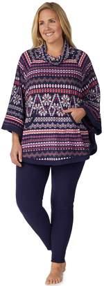 Cuddl Duds Plus Size Poncho & Leggings Pajama Set