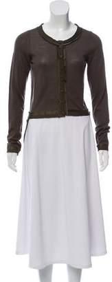 Lanvin Lightweight Wool High-Low Cardigan