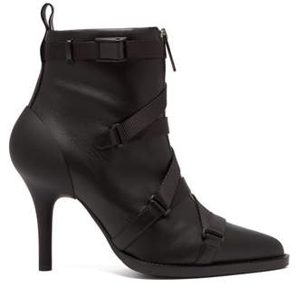 Chloé Tracy Leather And Grosgrain Ankle Boots - Womens - Black