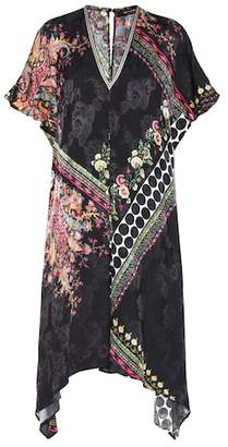 Etro Printed silk-blend dress