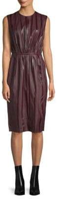 Lanvin Sleeveless Tonal Leather Dress
