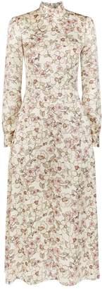 Goat Floral Print High-Neck Dress