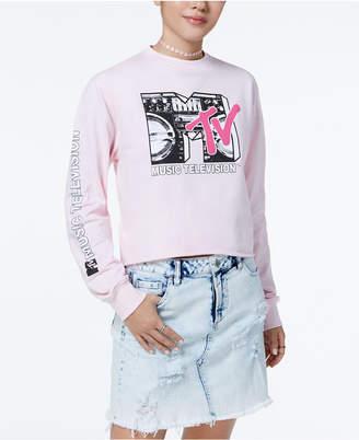 Freeze 24-7 Juniors' Cotton Mtv Graphic Sweatshirt