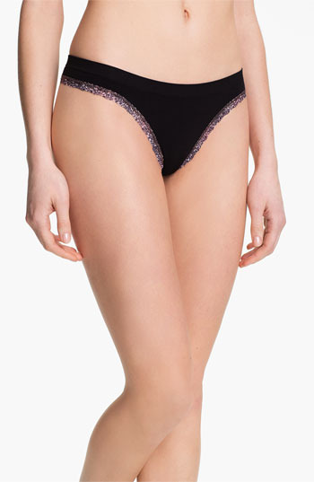 BP. Undercover Lace Trim Seamless Thong (Juniors)