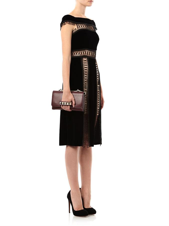 Christopher Kane Loop tape velvet dress