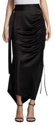 SOLACE London Rosette Midi Skirt