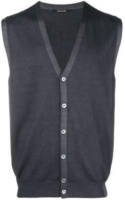 Tagliatore sleeveless v-neck cardigan