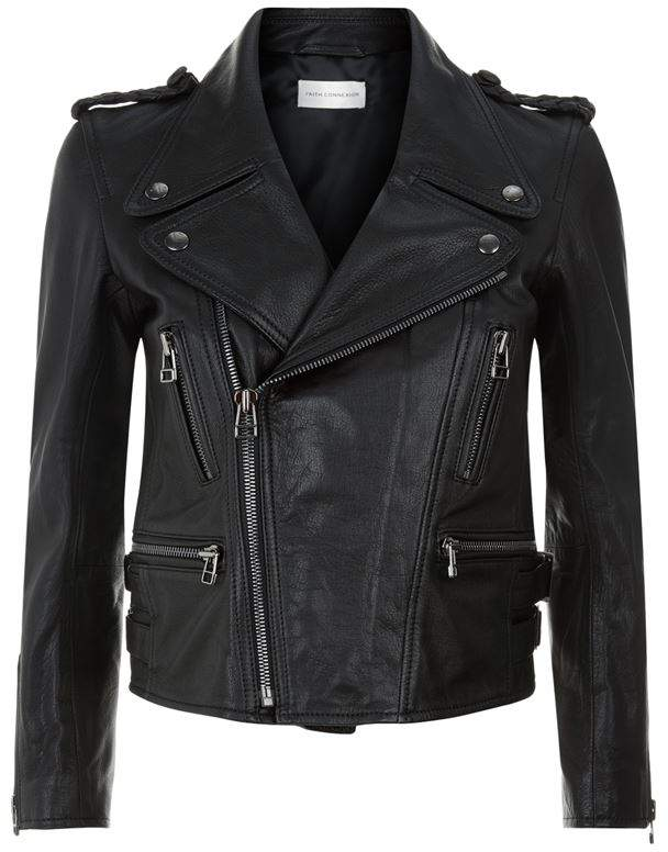 Braided DetailLeather Jacket