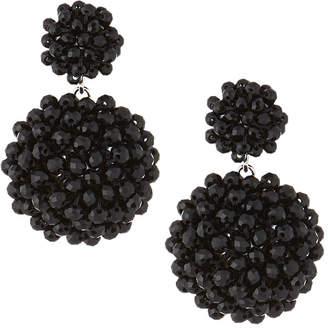 Capri Colette Merrit Beaded Drop Earrings, Black