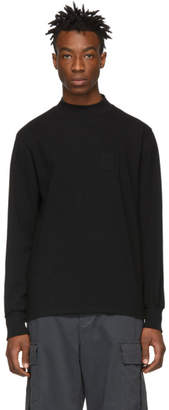 Leon Aime Dore Black Mock Neck Dimebag Long Sleeve T-Shirt