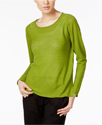 Eileen Fisher Organic Linen Boat-Neck Sweater $158 thestylecure.com