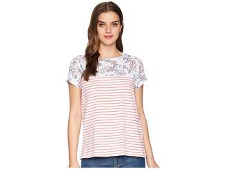 Joules Suzy Jersey/Woven Mix T-Shirt
