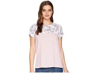 Joules Suzy Jersey/Woven Mix T-Shirt Women's T Shirt