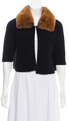 Saks Fifth Avenue Fur-Trimmed Cardigan