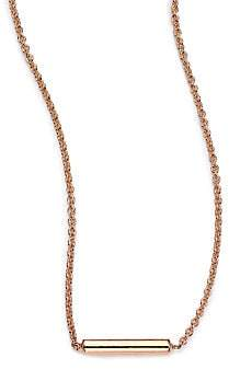 ginette_ny Women's 18K Rose Gold Strip Pendant Necklace