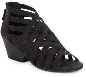 Eileen Fisher Oodle Nubuck Cross Strapped Sandals