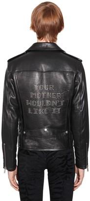 Saint Laurent Embellished Classic Leather Biker Jacket