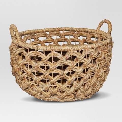 Oval Open Weave Basket - Brown