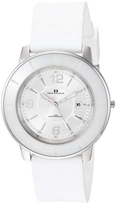 Oceanaut Women's 'Satin' Quartz Stainless Steel and Silicone Casual Watch