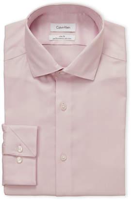 Calvin Klein Blossom Basket Weave Slim Fit Dress Shirt