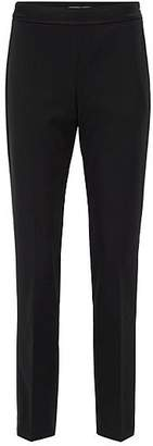 HUGO BOSS High-waisted suit trousers with satin trims