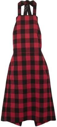 Vetements Checked Cotton-Flannel Dress