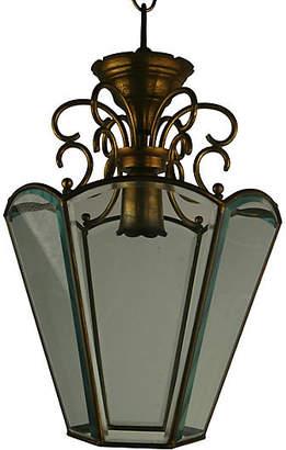 One Kings Lane Vintage 1920s Italian Glass Lantern - brunelli designs inc