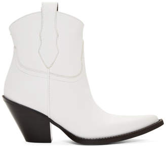 Maison Margiela White Low Mexas Boots