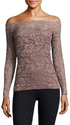 "L'Agence L""AGENCE Women's Heidi Off-The-Shoulder Lace Top"