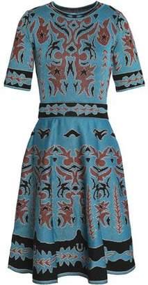 M Missoni Metallic Printed Crochet-Knit Dress