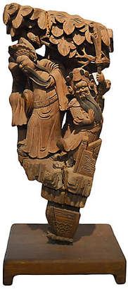 One Kings Lane Vintage Chinese Hand-Carved Corbel