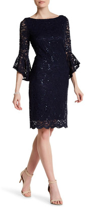 Marina Lace Bell Sleeve Dress $129 thestylecure.com