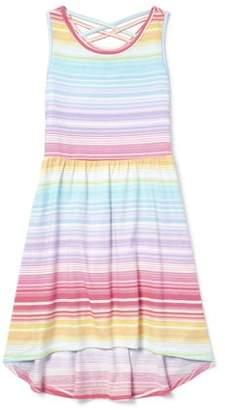 7cb7ecd97 Children's Place The Cross Back Rainbow Stripe High-Low Dress (Little Girls  & Big