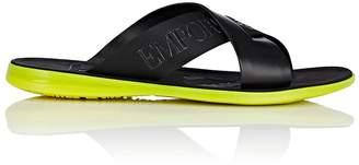 Emporio Armani Men's Logo Crisscross-Strap Slide Sandals