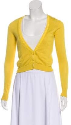 Lela Rose Cashmere Knit Cardigan
