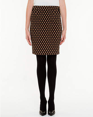 Le Château Jacquard Print Pencil Skirt