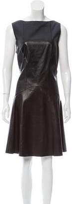 Jason Wu Leather A-Line Dress