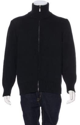 Gucci Wool & Silk Knit Cardigan