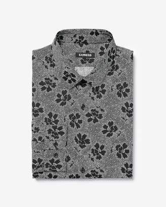 Express Extra Slim Floral Dot Cotton Dress Shirt