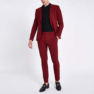 River Island Red super skinny fit suit pants
