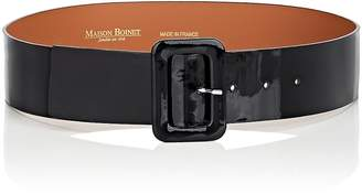 MAISON BOINET Women's Patent Leather Wide Belt