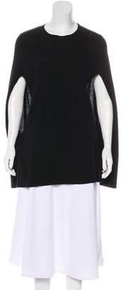 DKNY Wool-Blend Knit Cape Sweater