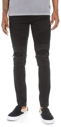 Moto NXP Combination Skinny Jeans