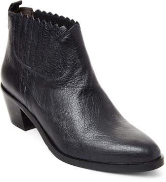 Gabriella Pointed Toe Leather Ankle Booties