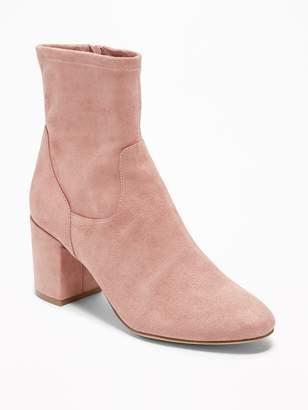 Old Navy Faux-Suede Slim-Calf Block-Heel Boots