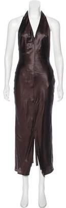 Richard Tyler Maxi Halter Dress