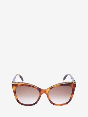 Alexander McQueen Cat-Eye Jeweled Frame