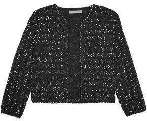 Lela Rose Cropped Bouclé-Tweed Jacket