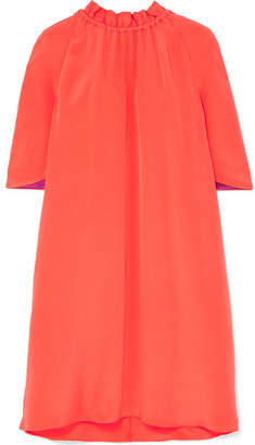 Roksanda Daena Silk Crepe De Chine Mini Dress - Papaya